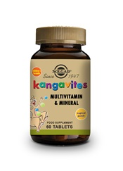 Kangavites Tropical Punch Complete Multivitamin and Mineral Formula Chewable Tablets   Pack of 60 | Solgar Vitamins & Supplements