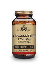 Flaxseed Oil 1250 mg Softgels   Pack of 100 | Solgar Vitamins & Supplements
