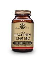 Soya Lecithin 1360 mg Softgels   Pack of 100 | Solgar Vitamins & Supplements