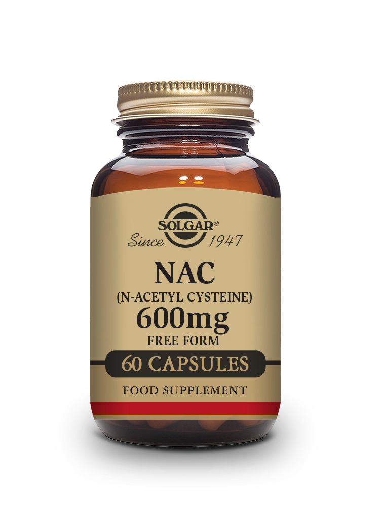 NAC (N Acetyl L Cysteine) 600 mg Vegetable Capsules   Pack of 60 | Solgar Vitamins & Supplements