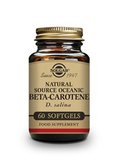 Natural Source Oceanic Beta Carotene Softgels   Pack of 60 | Solgar Vitamins & Supplements