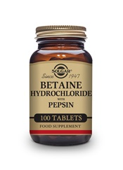 Betaine Hydrochloride with Pepsin Tablets   Pack of 100 | Solgar Vitamins & Supplements