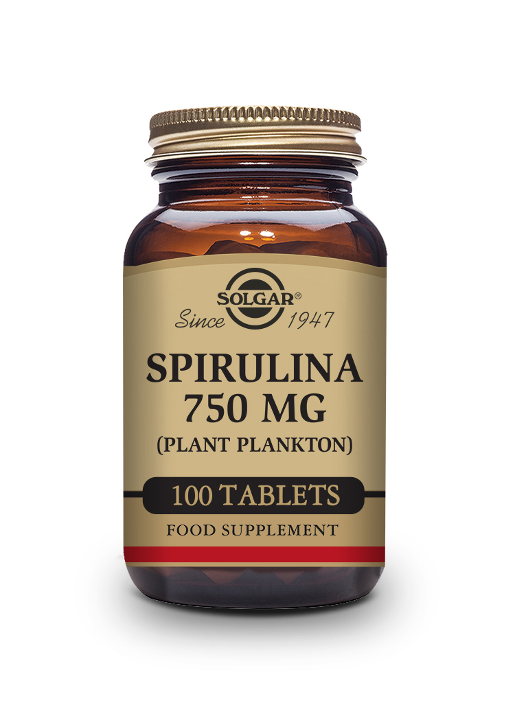Spirulina 750 mg Tablets   Pack of 100 | Solgar Vitamins & Supplements