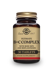Ultimate B+C Complex Tablets   Pack of 30 | Solgar Vitamins & Supplements