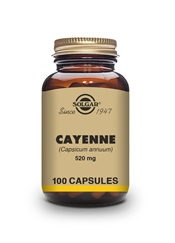Cayenne 520 mg Vegetable Capsules   Pack of 100 | Solgar Vitamins & Supplements