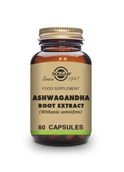 Ashwagandha Root Extract Vegetable Capsules   Pack of 60 | Solgar Vitamins & Supplements