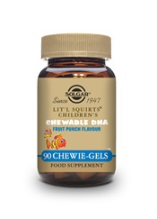 Lit'l Squirts Children's Chewable DHA Chewie Gels   Pack of 90 | Solgar Vitamins & Supplements