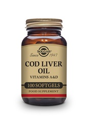 Cod Liver Oil Softgels   Pack of 100 | Solgar Vitamins & Supplements