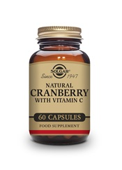 Natural Cranberry with Vitamin C Vegetable Capsules   Pack of 60 | Solgar Vitamins & Supplements